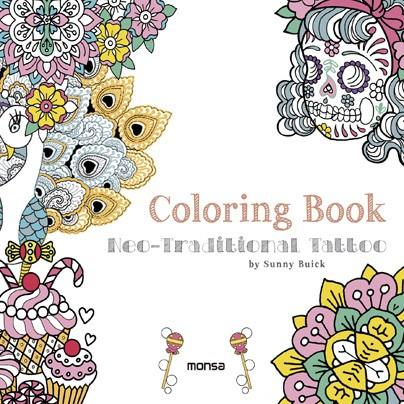 COLORING BOOK. NEO-TRADITIONAL TATTOO | 9788416500307 | BUICK, SUNNY ...